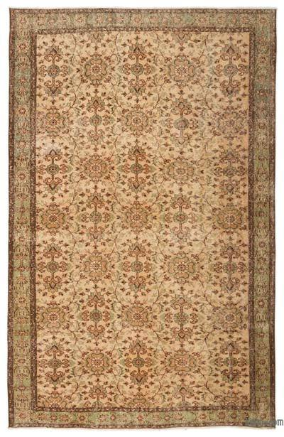 """Turkish Vintage Area Rug - 5'8"""" x 8'7"""" (68 in. x 103 in.)"""