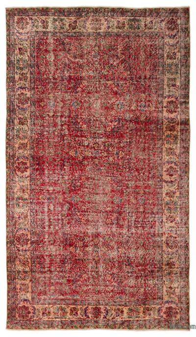 "Turkish Vintage Area Rug - 5' 3"" x 9' 2"" (63 in. x 110 in.)"