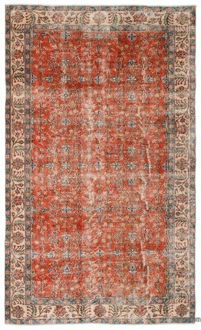 "Turkish Vintage Area Rug - 5'4"" x 8'11"" (64 in. x 107 in.)"