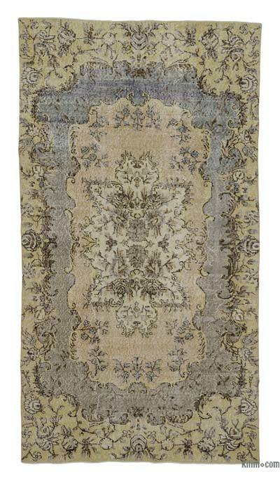 "Turkish Vintage Area Rug - 4'7"" x 8'4"" (55 in. x 100 in.)"