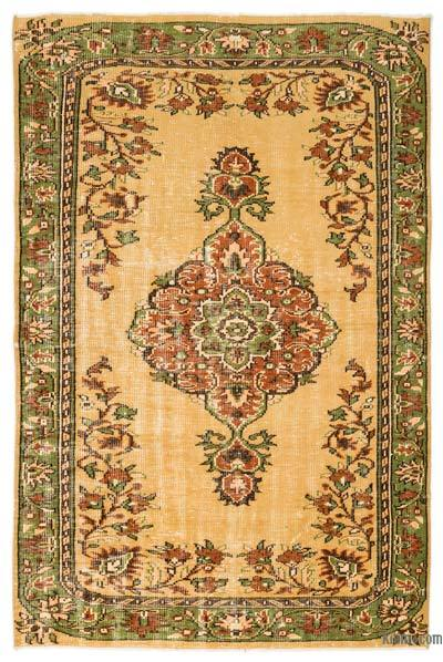 """Turkish Vintage Area Rug - 5'4"""" x 8'3"""" (64 in. x 99 in.)"""
