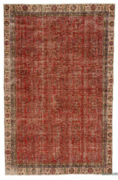 "Turkish Vintage Area Rug - 6' 1"" x 9' 9"" (73 in. x 117 in.)"