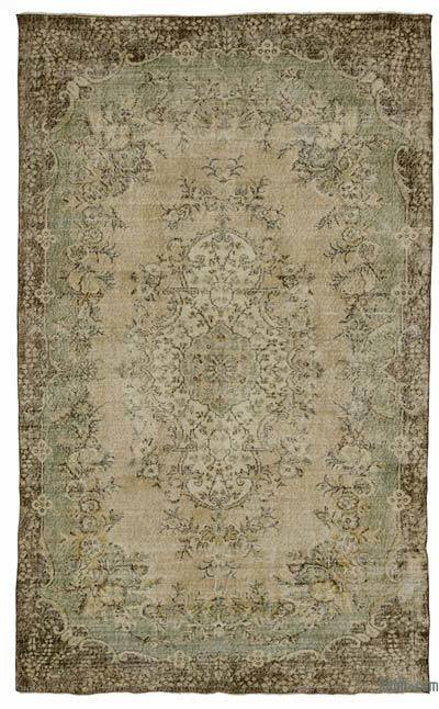 """Turkish Vintage Area Rug - 5' 10"""" x 9' 5"""" (70 in. x 113 in.)"""