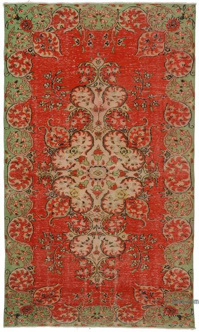 """Turkish Vintage Area Rug - 6' 1"""" x 10' 4"""" (73 in. x 124 in.)"""