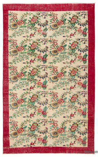 "Turkish Vintage Area Rug - 5' 8"" x 8' 8"" (68 in. x 104 in.)"
