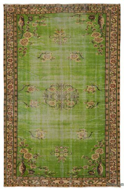 """Turkish Vintage Area Rug - 5' 10"""" x 9' 1"""" (70 in. x 109 in.)"""