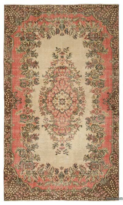 """Turkish Vintage Area Rug - 5'9"""" x 10' (69 in. x 120 in.)"""