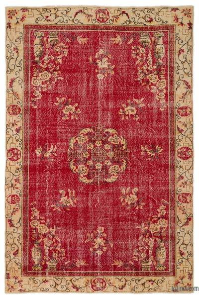 "Turkish Vintage Area Rug - 6'6"" x 9'11"" (78 in. x 119 in.)"
