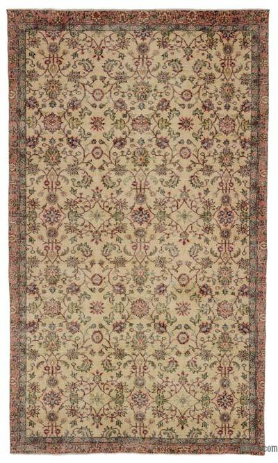 """Turkish Vintage Area Rug - 5'5"""" x 9'6"""" (65 in. x 114 in.)"""