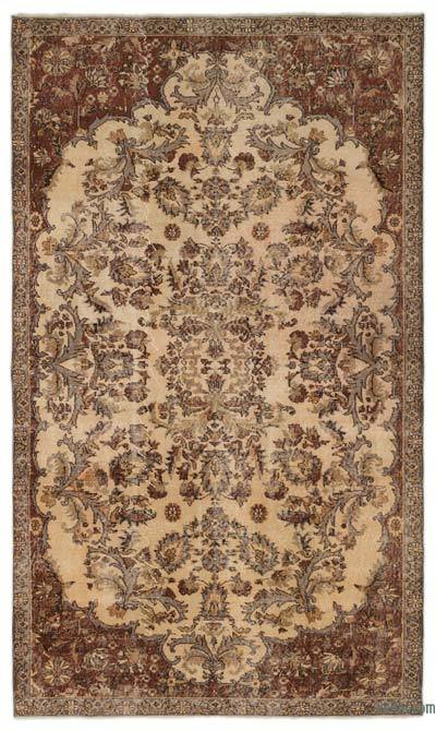 "Turkish Vintage Area Rug - 5'6"" x 9'6"" (66 in. x 114 in.)"