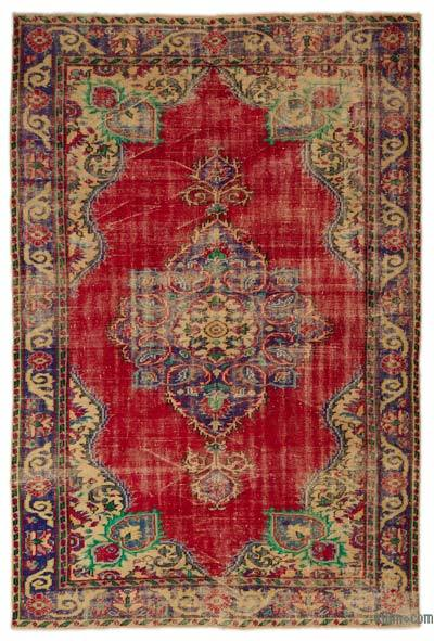 Turkish Vintage Area Rug - 6' x 9' (72 in. x 108 in.)