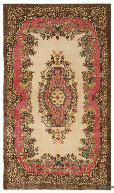 """Turkish Vintage Area Rug - 4' 9"""" x 8' 4"""" (57 in. x 100 in.)"""
