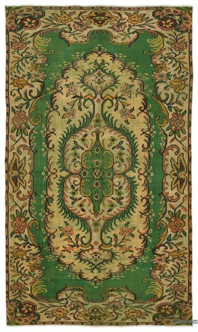 """Turkish Vintage Area Rug - 5'5"""" x 9'4"""" (65 in. x 112 in.)"""
