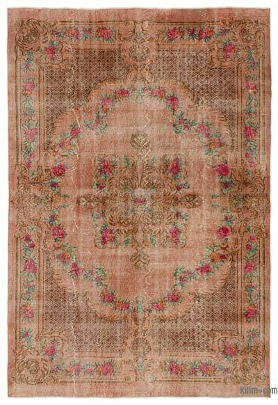 "Turkish Vintage Area Rug - 6'5"" x 9'6"" (77 in. x 114 in.)"