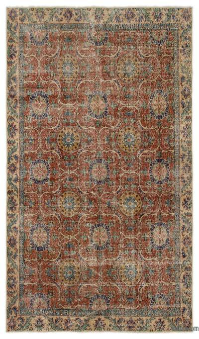 "Turkish Vintage Area Rug - 4'8"" x 7'9"" (56 in. x 93 in.)"