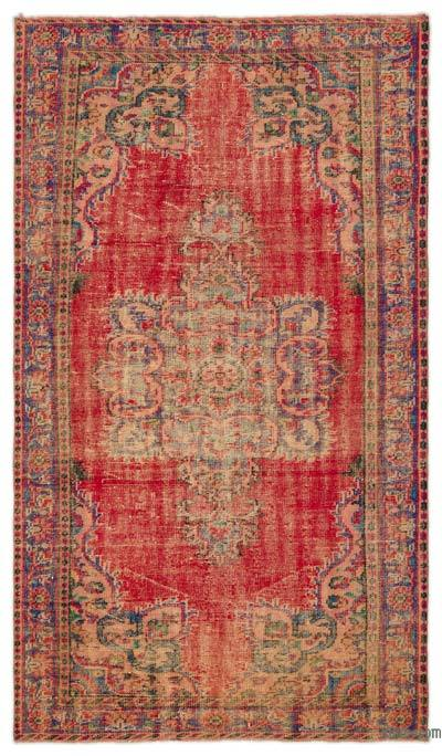 """Turkish Vintage Area Rug - 5'3"""" x 9'2"""" (63 in. x 110 in.)"""