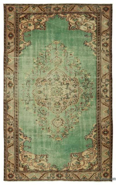 """Turkish Vintage Area Rug - 5'7"""" x 8'8"""" (67 in. x 104 in.)"""