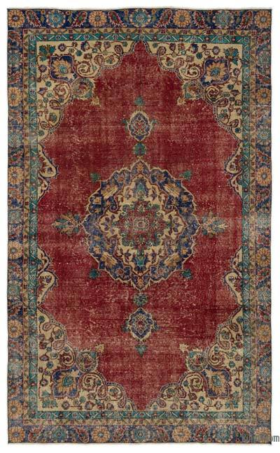 """Turkish Vintage Area Rug - 5'10"""" x 9'8"""" (70 in. x 116 in.)"""