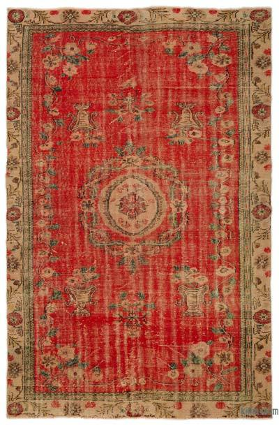 "Turkish Vintage Area Rug - 6'5"" x 9'10"" (77 in. x 118 in.)"