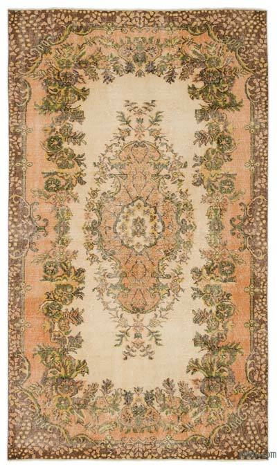 """Turkish Vintage Area Rug - 5'4"""" x 9'3"""" (64 in. x 111 in.)"""