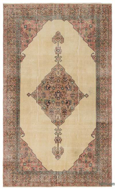 """Turkish Vintage Area Rug - 5'6"""" x 9'3"""" (66 in. x 111 in.)"""