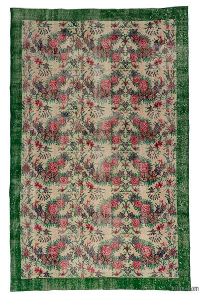 "Turkish Vintage Area Rug - 5' 9"" x 9'  (69 in. x 108 in.)"