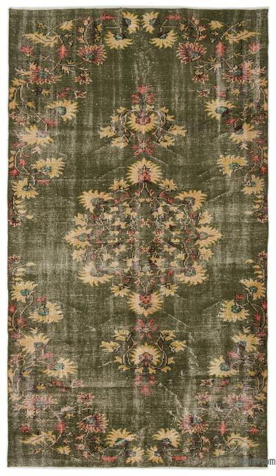 """Turkish Vintage Area Rug - 5'1"""" x 9' (61 in. x 108 in.)"""