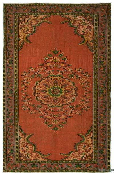 """Turkish Vintage Area Rug - 5'6"""" x 8'6"""" (66 in. x 102 in.)"""