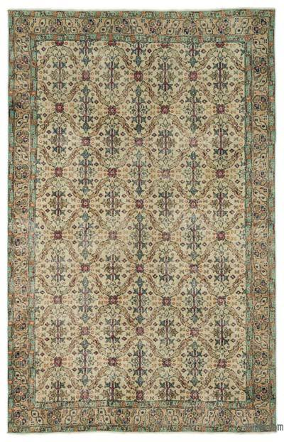 """Turkish Vintage Area Rug - 5' 9"""" x 9' 1"""" (69 in. x 109 in.)"""