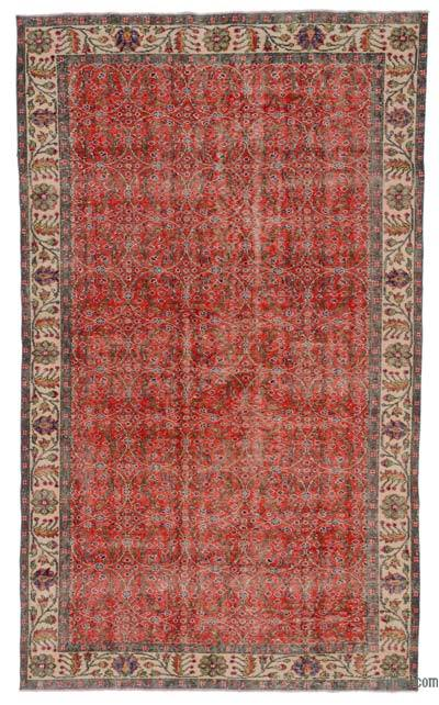 """Turkish Vintage Area Rug - 5' 6"""" x 9' 1"""" (66 in. x 109 in.)"""