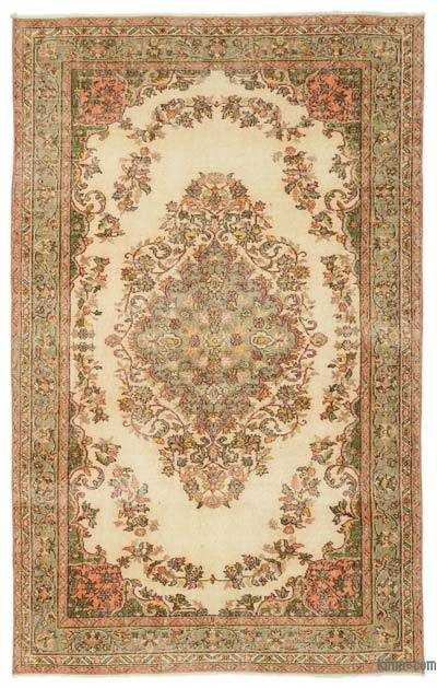 "Turkish Vintage Area Rug - 5'7"" x 8'11"" (67 in. x 107 in.)"