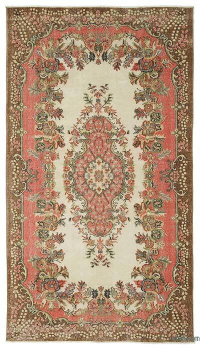 "Turkish Vintage Area Rug - 5'5"" x 9'8"" (65 in. x 116 in.)"