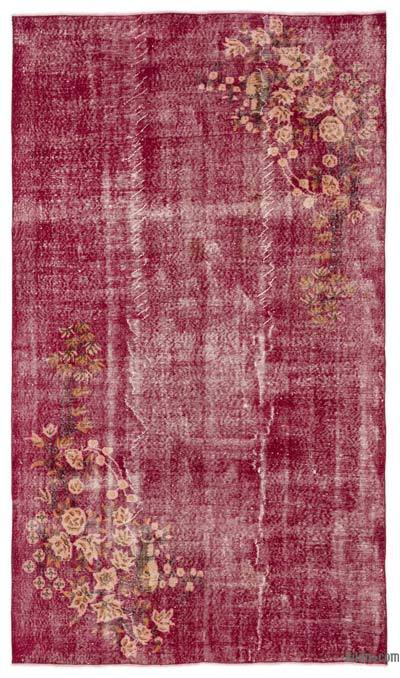 "Turkish Vintage Area Rug - 5'2"" x 9' (62 in. x 108 in.)"