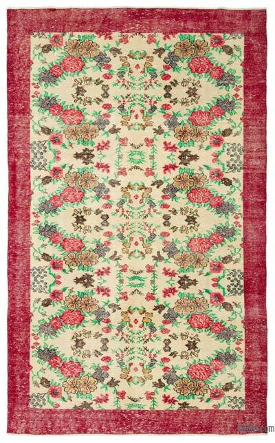 "Turkish Vintage Area Rug - 6' 2"" x 10'  (74 in. x 120 in.)"