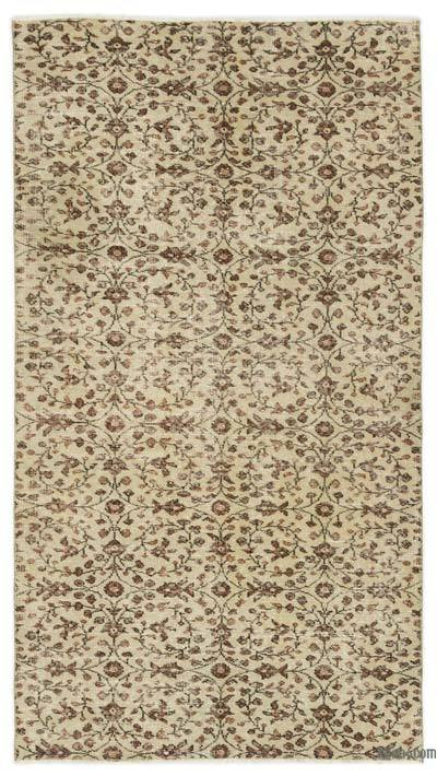 """Turkish Vintage Area Rug - 3' 10"""" x 6' 11"""" (46 in. x 83 in.)"""