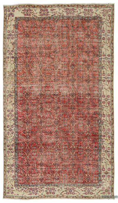 "Turkish Vintage Area Rug - 4' 10"" x 8' 8"" (58 in. x 104 in.)"