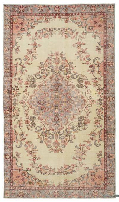 """Turkish Vintage Area Rug - 5'7"""" x 9'8"""" (67 in. x 116 in.)"""