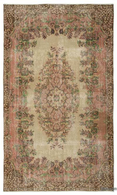"Turkish Vintage Area Rug - 5'5"" x 9'5"" (65 in. x 113 in.)"