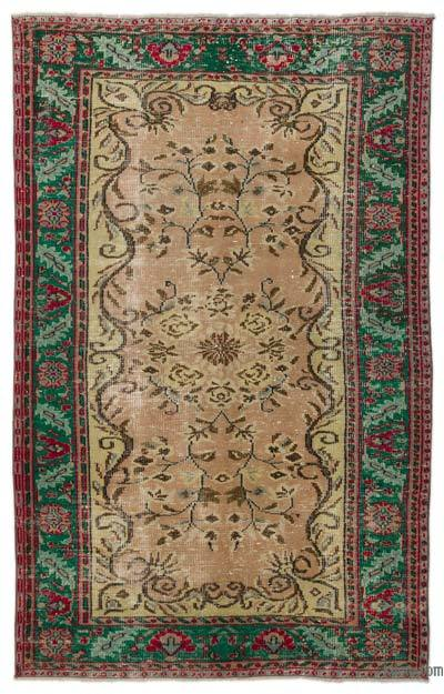 """Turkish Vintage Area Rug - 5'7"""" x 8'10"""" (67 in. x 106 in.)"""