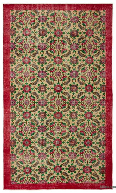 "Turkish Vintage Area Rug - 5'6"" x 9'3"" (66 in. x 111 in.)"