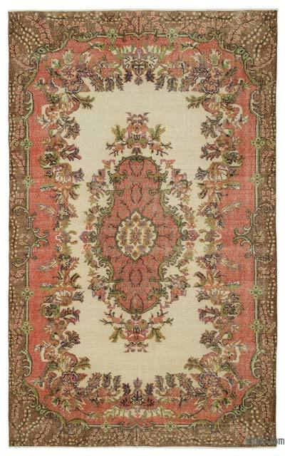 """Turkish Vintage Area Rug - 6'4"""" x 10'4"""" (76 in. x 124 in.)"""