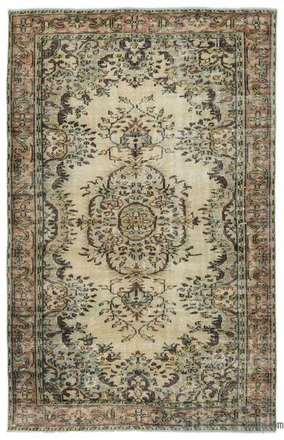 """Turkish Vintage Area Rug - 5' 7"""" x 8' 8"""" (67 in. x 104 in.)"""