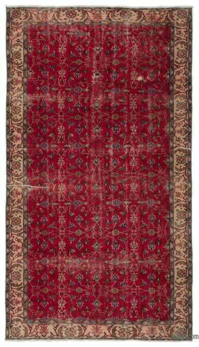 "Turkish Vintage Area Rug - 5'3"" x 9'2"" (63 in. x 110 in.)"