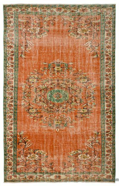"""Turkish Vintage Area Rug - 5'7"""" x 8'9"""" (67 in. x 105 in.)"""