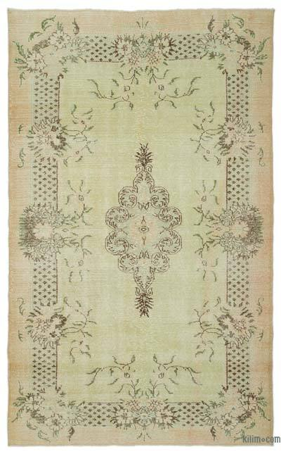 """Turkish Vintage Area Rug - 6' 4"""" x 10' 4"""" (76 in. x 124 in.)"""