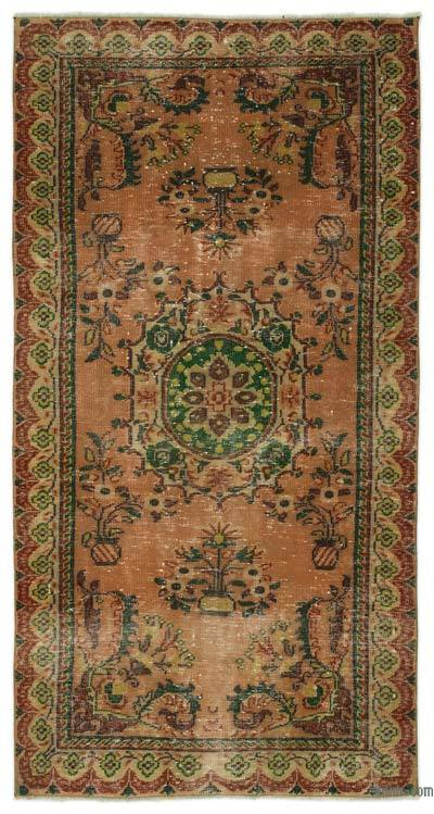 """Turkish Vintage Area Rug - 4'7"""" x 8'8"""" (55 in. x 104 in.)"""