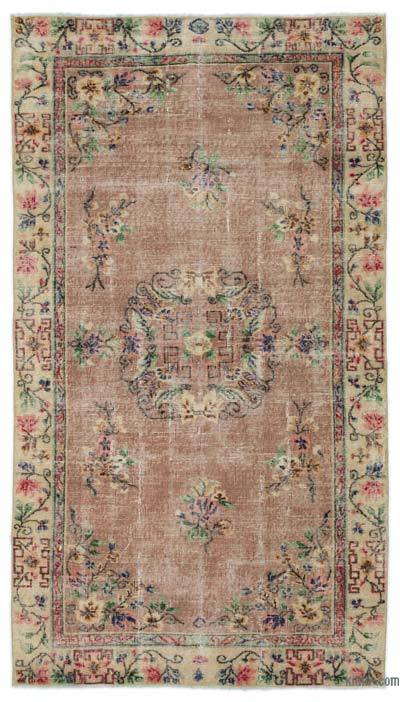 """Turkish Vintage Area Rug - 4'7"""" x 8'1"""" (55 in. x 97 in.)"""