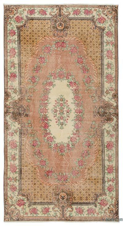 """Turkish Vintage Area Rug - 3'9"""" x 7'1"""" (45 in. x 85 in.)"""
