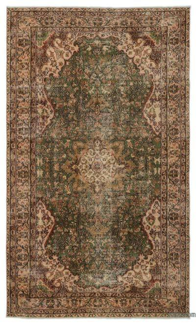 "Turkish Vintage Area Rug - 5'5"" x 9'3"" (65 in. x 111 in.)"