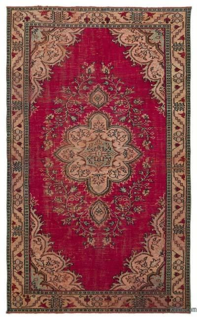 """Turkish Vintage Area Rug - 5' 4"""" x 8' 9"""" (64 in. x 105 in.)"""